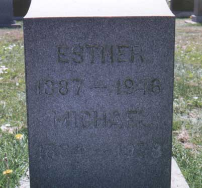 Esther Coughlan's tombstone