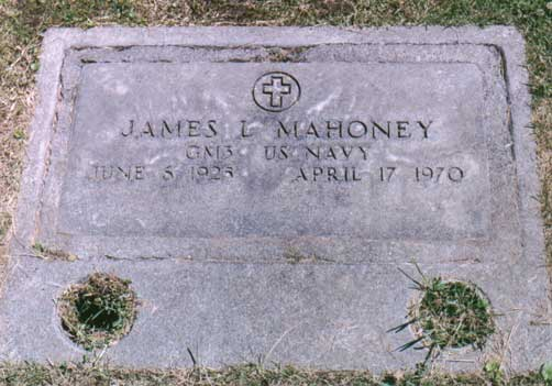 James Mahoney's Tombstone