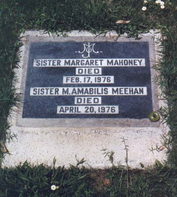 Sister Margaret's Tombstone